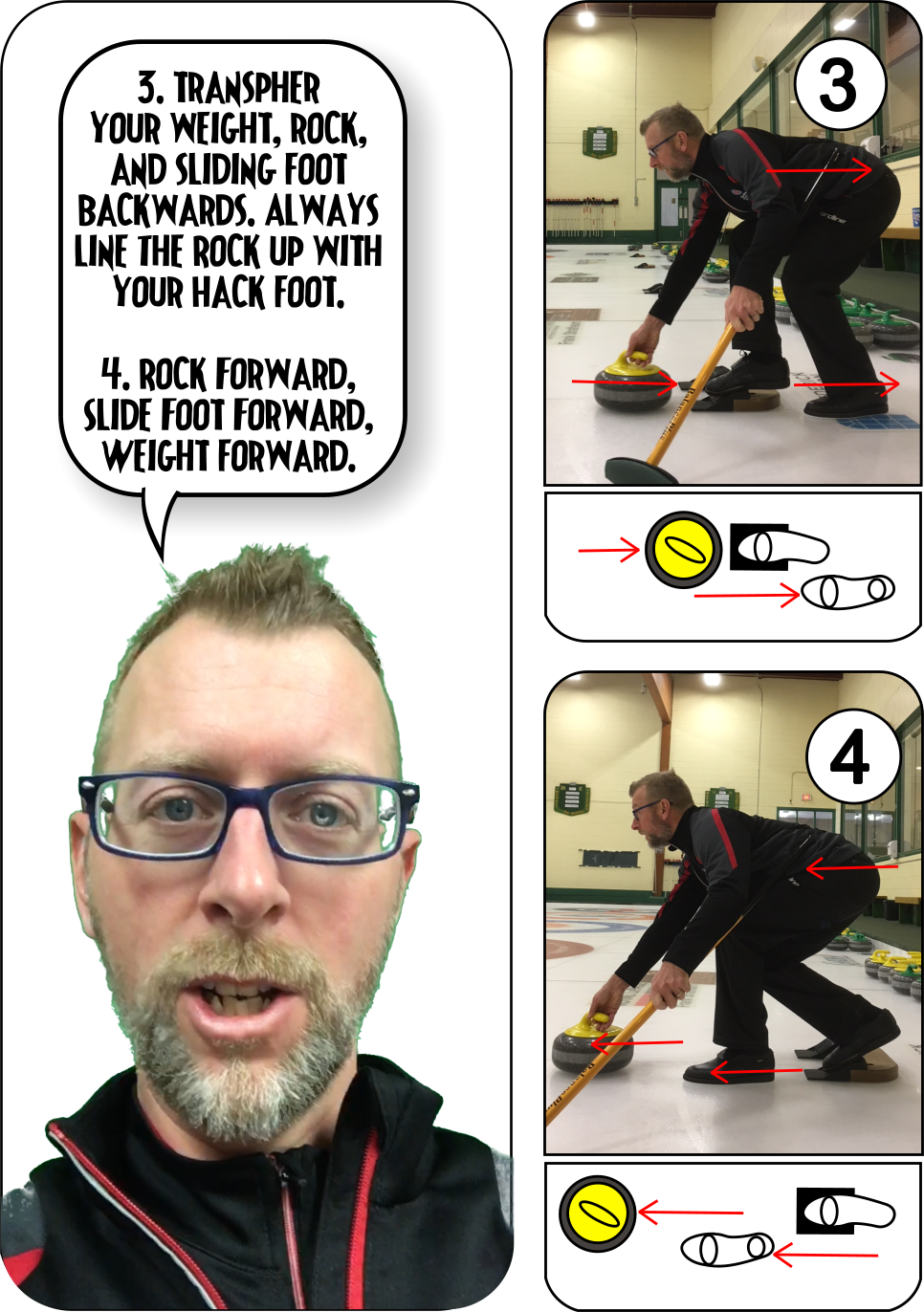 Curling slide fundamentals.
